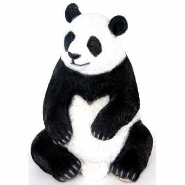 Decoratie beeld pandabeer 46 cm
