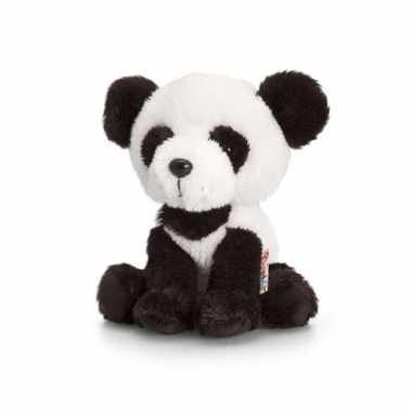 Pluche panda knuffel zittend 14cm