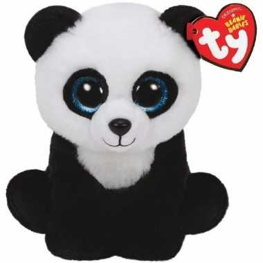 Pluche ty beanie pandabeer knuffel ming 15 cm