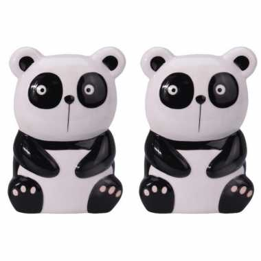 Set van 2x stuks panda/pandabeer radiator waterverdamper/luchtbevochtiger 17 cm